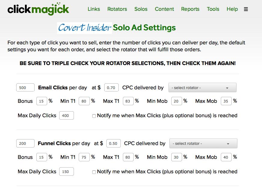ClickMagick-Solo-Ad-Settings