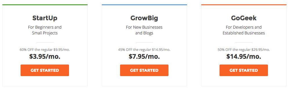 SiteGround Price Plan